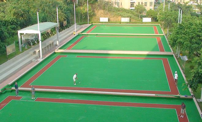 门球场人造草坪现场基础验收施工方案